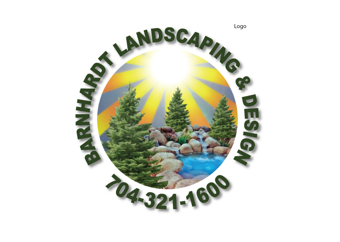 Barnhardt Landscaping logo created by AST Studio