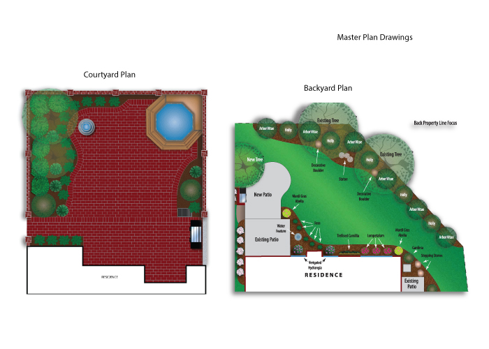 Barnhardt Landscaping masterplans created by AST Studio